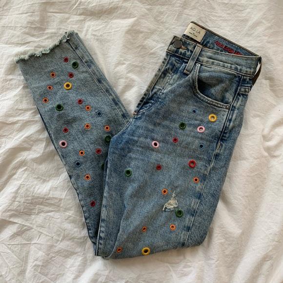 Alice + Olivia girlfriend jeans